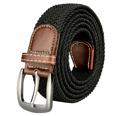 Drizzte Mens Plus Size 43'' 51'' 59'' 67'' Belts Stretch Elastic Braided Woven W