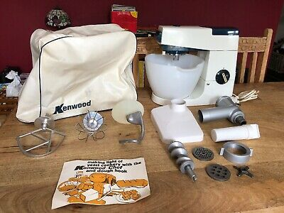 Vintage KENWOOD CHEF A701A With Cover, Attachments & Mincer - VGC