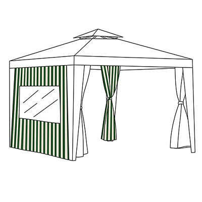 Multipacks Sizes Outdoor Gazebo Curtain Sets Side Window Panels Universal Fit