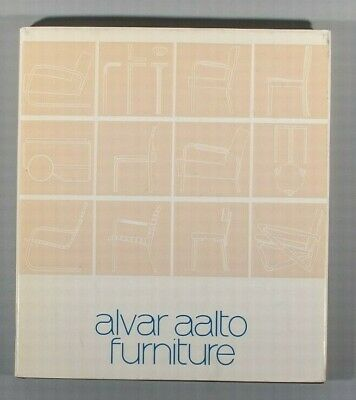 Out of Print Alvar Aalto Furniture MIT press 1984 well illustrated
