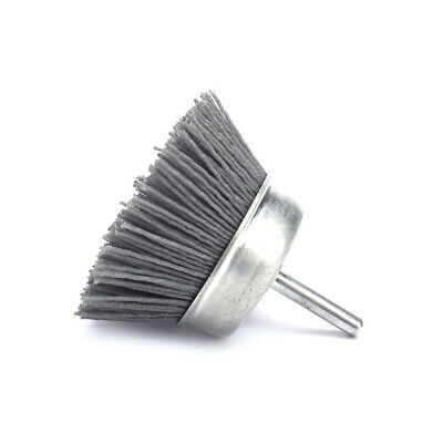 "3""Abrasive Wire Polishing Brush Nylon Wire Cup 120# Shank 6mm For Wood Furniture"