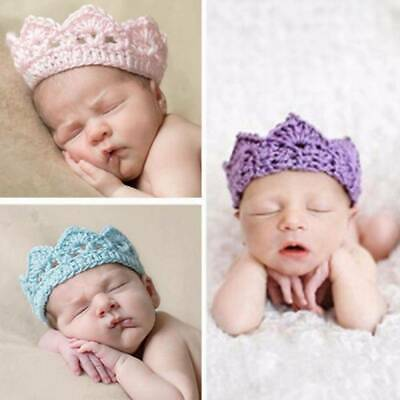 Baby Princess Crochet Crown Tiara Handmade Headband 2-10 Months Crochet Knitted