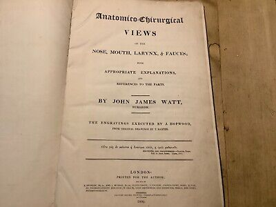 Antique 1800's MEDICAL BOOK - VIEWS OF THE NOSE, MOUTH, LARYNX, FAUCES RARE