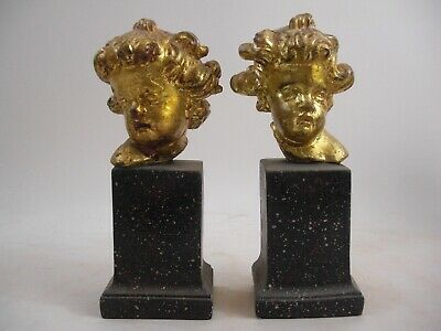 Putti Cherub Bust Bookends French Italy Style
