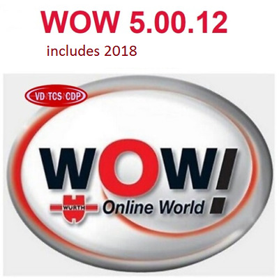 DIAGNOSTIC SOFTWARE WOW    includes 2018 cars    5.00.12 ENGLISH VERSION