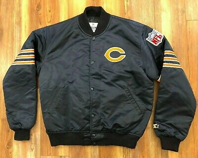 VTG 80s/90s 🏈CHICAGO BEARS NFL LARGE Bomber Starter Jacket Made in USA Ditka