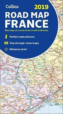 2019 Collins Map of France by Collins Maps New Sheet map  folded Book