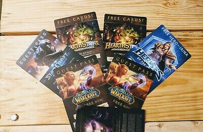 Blizzard World of Warcraft Hearthstone Heroes of the Storm Time Cards and More!