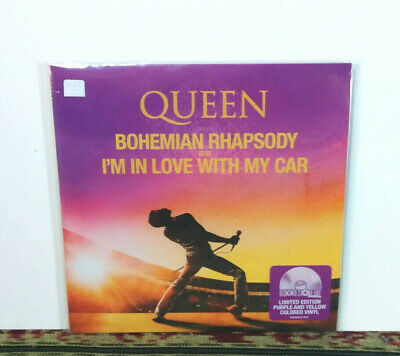 """Queen – Bohemian Rhapsody / I'm In Love With My Car, 7"""" Single Limited Colored"""