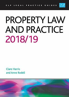 Property Law and Practice 2018/2019 by Anne Rodell New Paperback Book