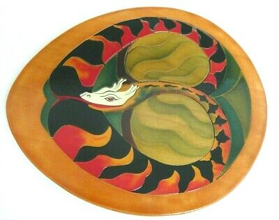 Beautiful Oval Wooden Picture Puzzle - Colourful Snake - Complete VGC