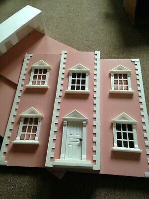 Large Pink Wooden Dolls House - New And Boxed