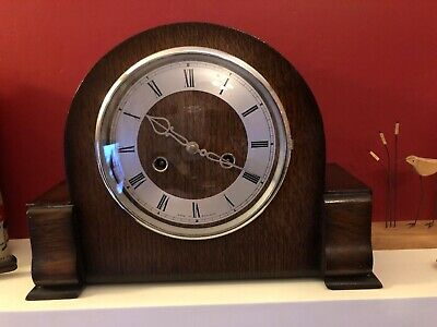 Beautiful Vintage Smiths  Enfield Mantle Clock Super Condition In Full Working.