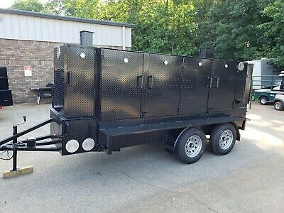 Mega Big BUTT w Sinks Storage BBQ Smoker Grill Trailer Food Truck Concession