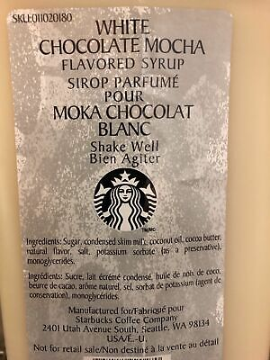 Ingredients in starbucks white chocolate mocha syrup