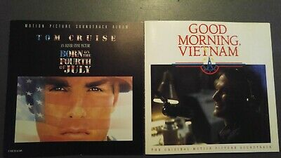 OST 2 CDS 1989 BORN ON THE FOURTH OF JULY mint! 1988 GOOD MORNING VIETNAM exc!