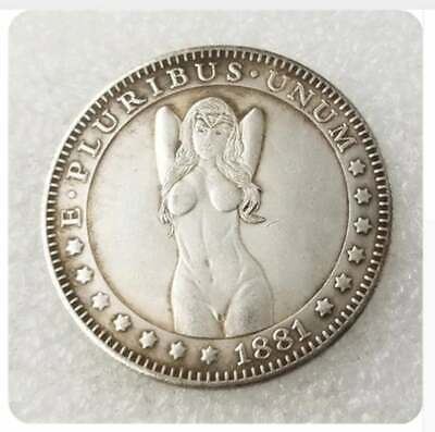 wonder woman Sexy girl Hobo Nickel Coin 1881 commemorative