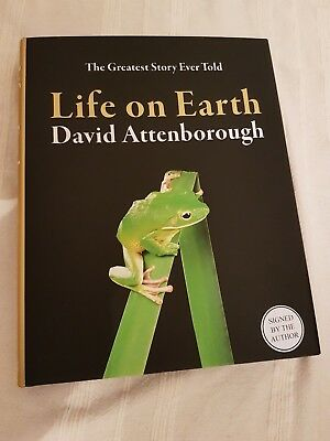 Life On Earth  SIGNED  1ST NEW DAVID ATTENBOROUGH