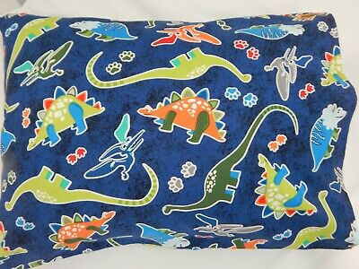 Dinosaurs Pillowcase Glow in the Dark Cot Toddler Size 100% Cotton