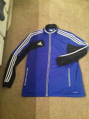 NWOT ADIDAS TIRO MENS BlUE/black TRACK / TRAINING JACKET CLIMACOOL Size XL $60