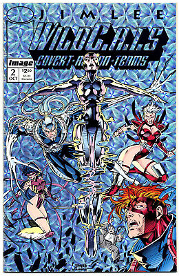 WildCATS #2 (1992; vf+ 8.5) new & unread first print - metallic prism card cover