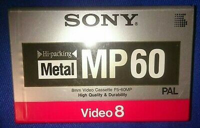SONY Video 8 Cassette P5-60MP PAL. High-packing Metal. New
