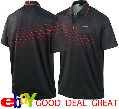 1ad92077 Tiger Woods TW Fade Graphic Polo Shirt 483627-010 Charcoal Gray *EXTREMELY  RARE*