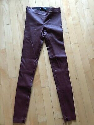 1c3269123bc30 VINCE SUEDE LEATHER Legging Size