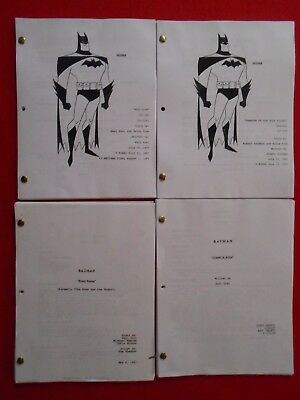 4 scripts from the 1990's animated TV series Batman