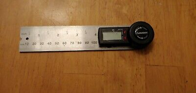 Husky 5 in. Digital Protractor Angle Finder + Ruler - Stainless Steel