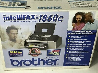 NEW Brother Intellifax 1860C Color Inkjet Fax & Copier SEALED BOX