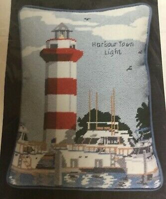 Canvas Creation Printed Painted Needlepoint Canvas Lighthouse Harbour Town Light