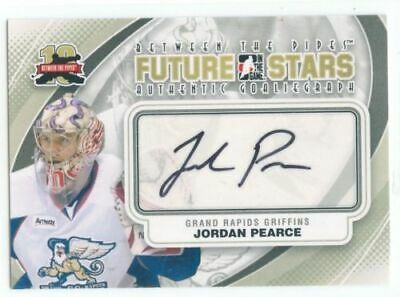 11/12 Between The Pipes Goaliegraph Autograph Auto Jordan Pearce Griffins *49815