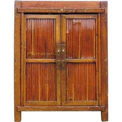 Small Antique South Chinese Bamboo and Pine Side Cabinet c. 1880