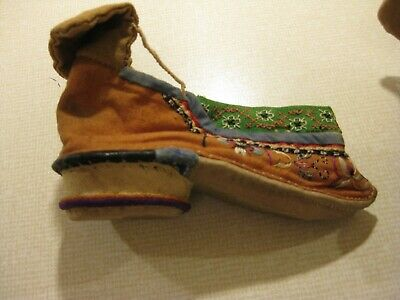 Antique Chinese Lotus Shoes, foot binding, early 20th century, used