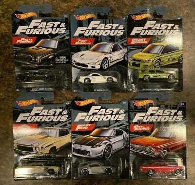 2019 Hot Wheels FAST & FURIOUS Complete Set of 6 Walmart Exclusives New