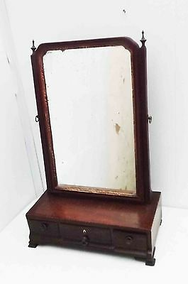 Dressing top mirror and draws in mahogany Georgian.