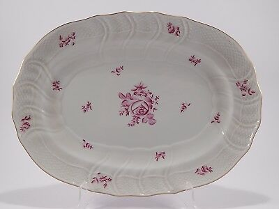 Vassoio Raviera Porcellana Herend Hungary Hand-Made Porcelain Rose Big Tray