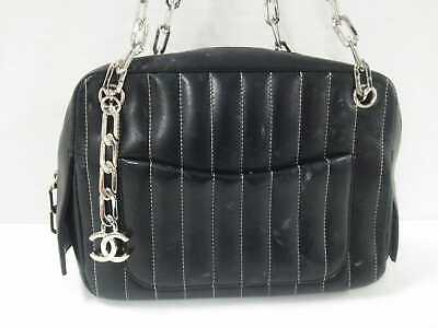 7d91bd4c1084 CHANEL LAMBSKIN VERTICAL Quilted Mademoiselle Black - $700.00 | PicClick