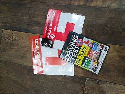 Learn To Drive Plates And Dvd Test x4 learner magnetic plates