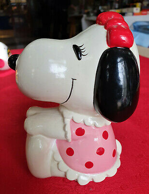 Peanuts Snoopy's Sister Belle coin Vintage Bank