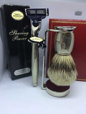 Acca Kappa Set Geschenk Barber Shop Collection Seife Von Bart 250 Ml Health & Beauty Pinsel Ne Bracing Up The Whole System And Strengthening It