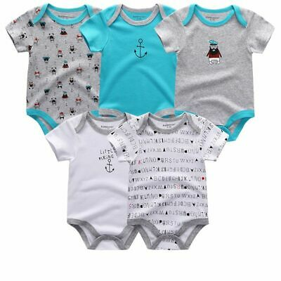 Baby Newborn Short Sleeve Romper Cotton Infant Bodysuits 0-12M Boy Girl 5PCS/LOT