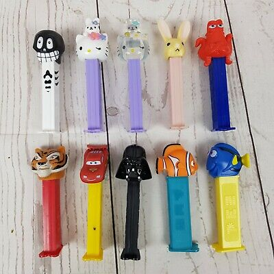 Pez Dispensers Lot of 10 Hello Kitty Nemo Darth Vader Cars Tiger Rabbit