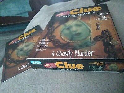 Clue Mystery Puzzle By Parker Brothers A ghostly Murder jigsaw