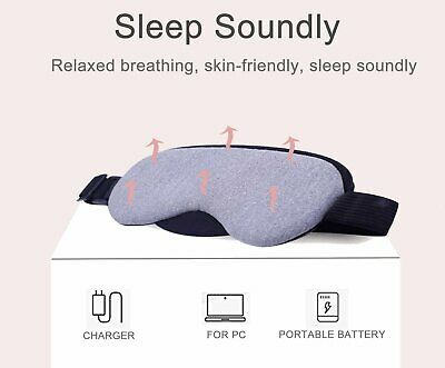 Sleeping Eye Mask with USB Temperature Control and Timing Eyeshade