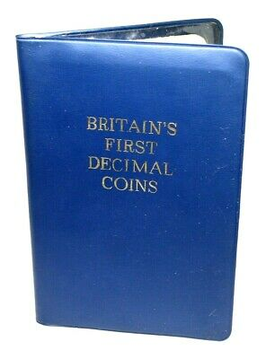 Britain's First Decimal Coins Collection 1971 Booklet Of Collectors Coins Set