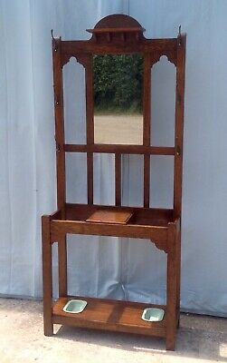 Vintage Antique Oak Hall Stand, Hat and Coat Stand, Umbrella Stand.