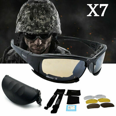 Daisy X7 UVA/UVB Tactical Military Style Glasses Goggles Motorcycle Sunglas I6Z3
