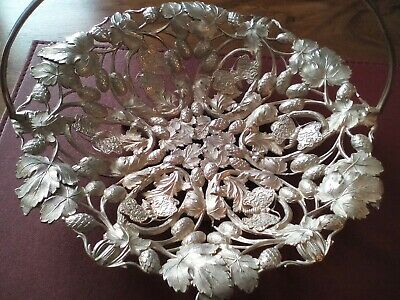 A Vintage Silver Plated Decorative Dish